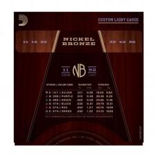 قیمت خرید فروش سیم گیتار آکوستیک Daddario NB 11-52