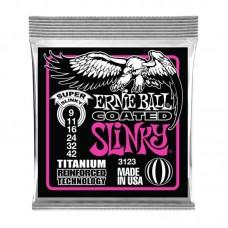 قیمت خرید فروش سیم گیتار الکتریک   Ernie Ball Coated Slinky 9-42 Titanium